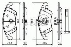 Тормозные колодки Bosch, фото 2