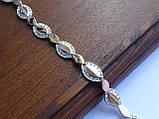 Браслет серебряный с золотыми пластинами, фото 2