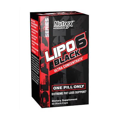 Жиросжигатель Nutrex Lipo-6 Black Ultra Concetrate (60 caps)