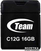 Флеш память USB 16GB Team C12G Black USB 2.0 (TC12G16GB01)