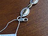 Браслет серебряный с золотыми пластинами, фото 7