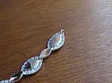Браслет серебряный с золотыми пластинами, фото 8