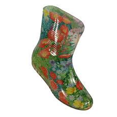 Жіночі горжетки хутряні чоботи ЧЕРВОНІ КВІТИ НА ЗЕЛЕНОМУ