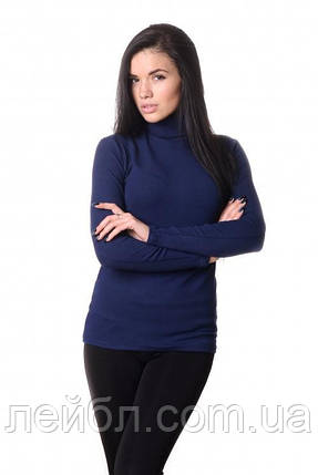 Водолазка женская LADY Winter 4703 - темно-синий, фото 2