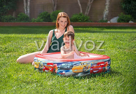 Детский надувной бассейн 57101 intex тачки, фото 2
