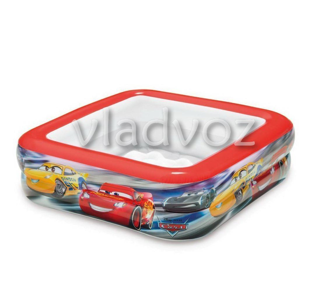 Детский надувной бассейн 57101 intex тачки
