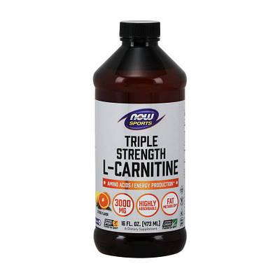 Жиросжигатель NOW L-Carnitine Liquid 3000 mg (473 ml)