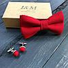 Набор I&M Craft бабочка и запонки красный (500105Z)