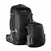 Туристический рюкзак Caribee Magellan 50+15 RFID Black (комплект), фото 1