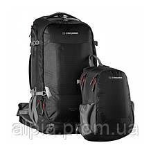 Туристический рюкзак Caribee Magellan 50+15 RFID Black (комплект)