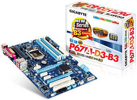 Материнская плата Gigabyte GA-P67A-D3-B3 (s1155, Intel P67, 2xPCI-Ex16)