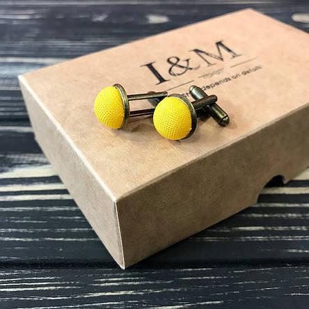 Запонки I&M Craft желтые (500101Z), фото 2