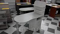 Маникюрный стол с ящиками и полочками серый