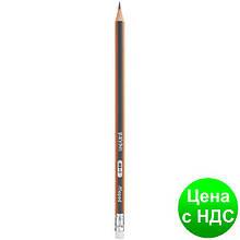 Карандаш графитный BLACK PEPS HB, с резинкой, коробка с подвесом MP.851721
