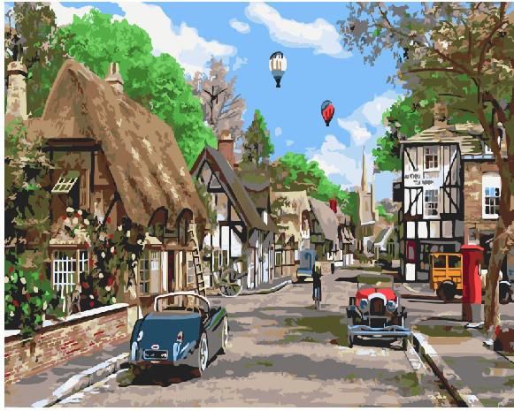 Картина по номерам Городской пейзаж, 40x50 см., Brushme