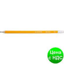 Карандаш графитный HB, желтый, с резинкой,  JOBMAX BM.8500