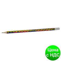 Карандаш графитный LEGS HB, с резинкой, туба ZB.2305