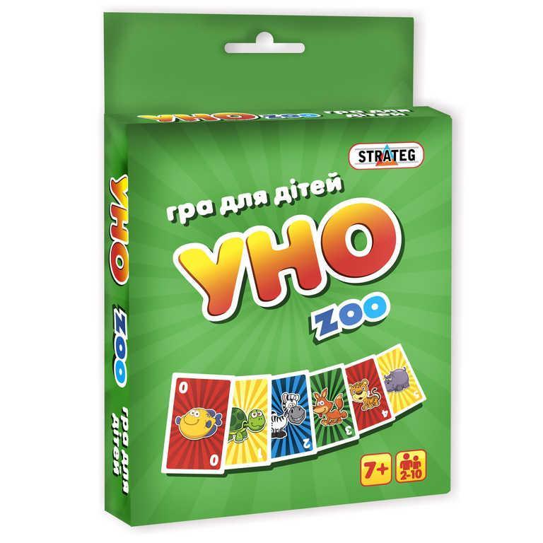 """Игра """"UNO ZOO"""" 7016  укр. (66)  """"STRATEG"""""""