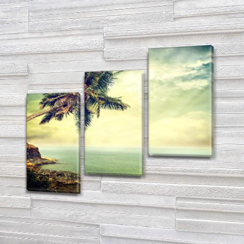 Триптих картины купить в трех размерах на Холсте син., 70x80 см, (50x25-2/50х25)