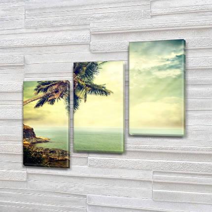 Триптих картины купить в трех размерах на Холсте син., 70x80 см, (50x25-2/50х25), фото 2