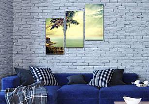 Триптих картины купить в трех размерах на Холсте син., 70x80 см, (50x25-2/50х25), фото 3