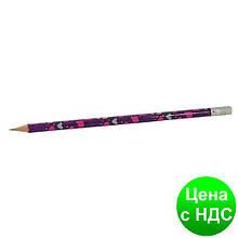Карандаш графитный LOVE HB, с резинкой, туба 20шт. ZB.2301-20