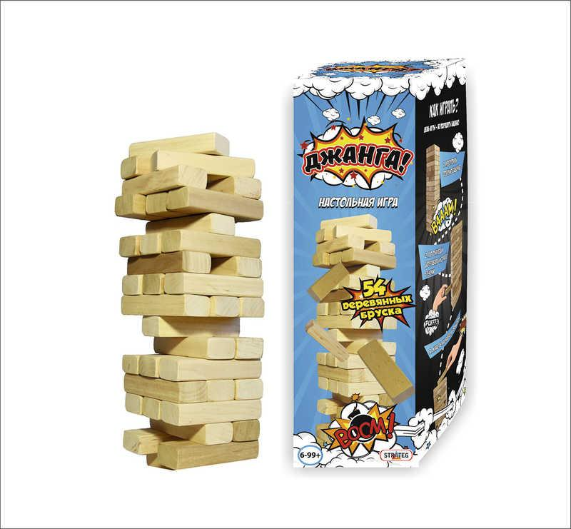 "Игра ""Джанга 54 бруска"" 024  (6) в коробке, ""STRATEG"""