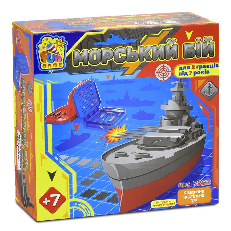 """Гра 7232 """"Морський Бій"""" (12) в коробці """"FUN GAME"""""""