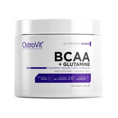 Аминокислота OstroVit BCAA + Glutamine Pure (200 g)