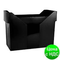 Картотека для подвесных файлов, пластик, черная 7421001-01