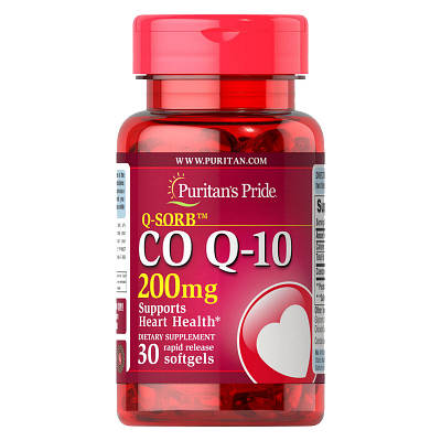 Комплекс Puritan's Pride Q-SORB Co Q-10 200 mg (30 softgels)