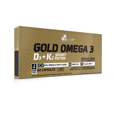 Комплекс Olimp Gold Omega 3 D3+K2 Sport Edition (60 caps)