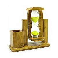 Часы песочные с подставкой для ручек (12,5х12,5х4 см) 18860