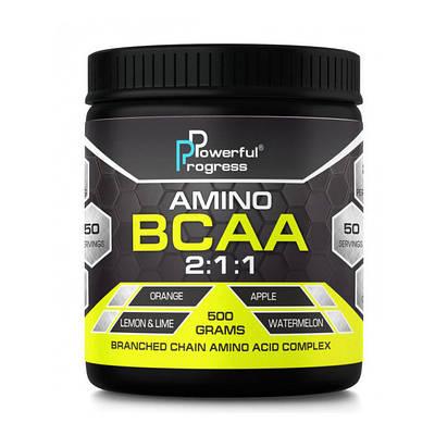 Аминокислота Powerful Progress Amino BCAA 2:1:1 (500 g)