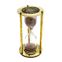 Часы песочные бронза (5 минут)(16,5х9х9 см) 26593