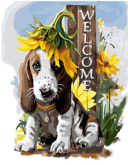 Картина по номерам Добро пожаловать, 40x50 см., Brushme