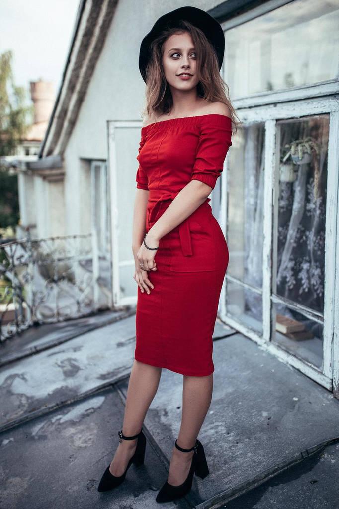 Красный сарафан Lory