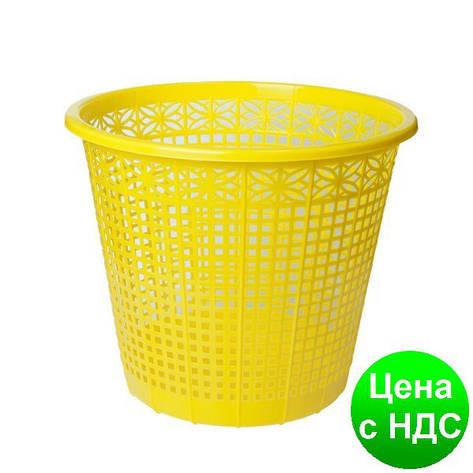 Корзина для бумаг 8 л,  JOBMAX, желтая ZB.3040-08, фото 2