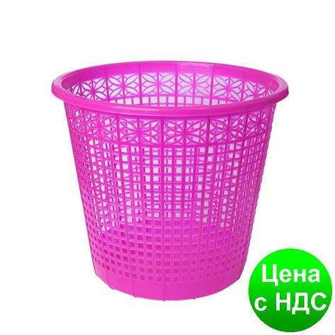 Корзина для бумаг 8 л,  JOBMAX, розовый ZB.3040-10, фото 2