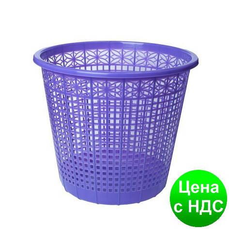 Корзина для бумаг 8 л,  JOBMAX, фиолетовая ZB.3040-07, фото 2