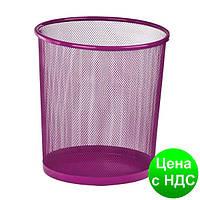 Корзина для бумаг круглая 265x265x280мм, металлическая, розовый ZB.3126-10