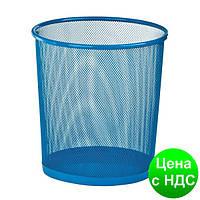 Корзина для бумаг круглая 265x265x280мм, металлическая, синий ZB.3126-02