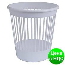 Корзина офісна для паперу 10л., пластик, білий 82062
