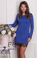 "Платье с кружевом ""Ivona"". Распродажа модели 42, электрик"