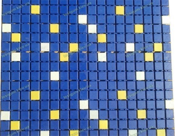 Ковер вокруг бассеина Аква синий с желтыми вставками