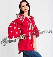 В наявності сучасна вишита сорочка жіноча (розмір 46UA RU). Модель