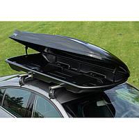 Багажный бокс на крышу автомобиля Amos Travel Pack 500 черный, фото 1