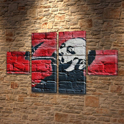 Модульные картины фото на Холсте син., 45x80 см, (18x18-2/45х18-2), фото 2
