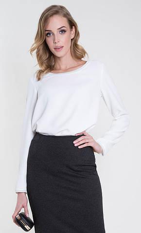 Женская блуза Rossane Zaps молочного цвета, коллекция осень-зима 2018-2019