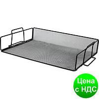Лоток для бумаг 355x245x80мм, металлический, черный BM.6251-01